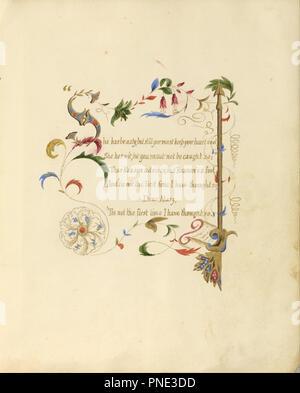 Bilderhandschrift Gedicht Briten England 1843 1845 Rot