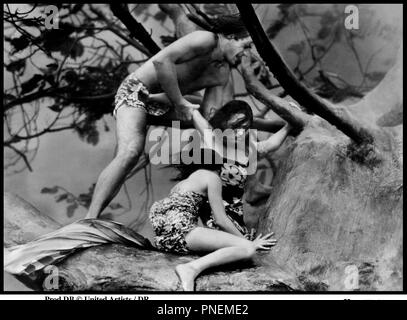 Prod DB © United Artists/DR HURRIKAN (Hurrikan) de John Ford 1937 USA avec Jon Hall et Dorothy Lamour indigÂne, ouragan, pagne, Tarzan, sauvages, Vent, tempÂte - Stockfoto