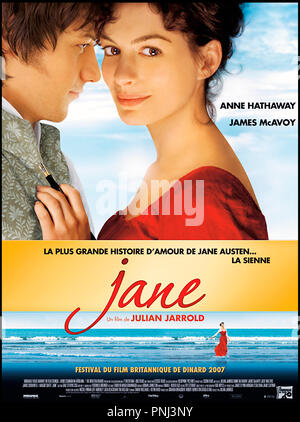 Anne Hathaway James Mcavoy Immer Jane 2007 Stockfoto Bild