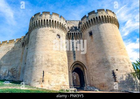 Frankreich. Gard (30). Villeneuve-Les-Avignon. Fort St. Andrew. Von Philippe Le Bel am Ende des 13. Jahrhunderts förderte, wurde die Arbeit nur in realisiert - Stockfoto
