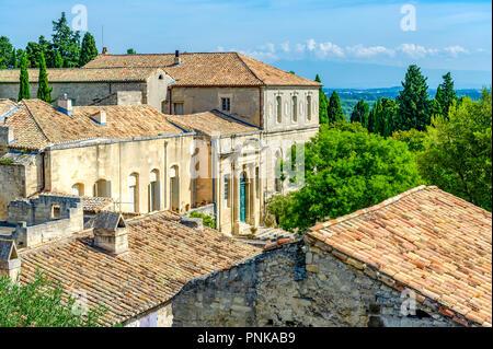 Frankreich. Gard (30). Villeneuve-Les-Avignon. Abtei Saint-André, Benediktinerabtei befindet sich oben auf dem Berg Andaon. Die Abtei Palace - Stockfoto