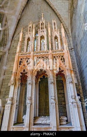 Frankreich. Gard (30). Villeneuve-Les-Avignon. Chartreuse Notre-Dame-du-Val-de-Bénédiction. Das Grab von Papst Innozenz VI. - Stockfoto