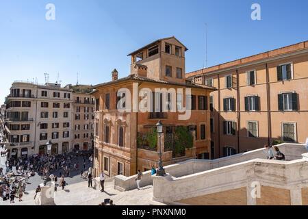 Spanische Treppe in Rom, Italien - Stockfoto
