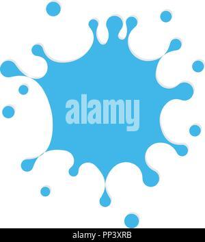 Frisches Wasser Splash Vektor icon. Weißer Fleck, drop Abbildung. Wasser logo Vorlage. Blaue Farbe sign Design. - Stockfoto