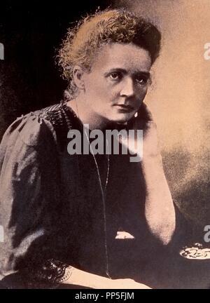Marie Curie (1867-1934), Polnisch und Naturalisiert - der französische Physiker und Chemiker. Nobelpreis. - Stockfoto