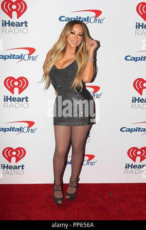 Sängerin Mariah Carey kommt auf den roten Teppich für den iHeartRadio Music Festival in Las Vegas, Nevada am 21. September 2018. - Stockfoto