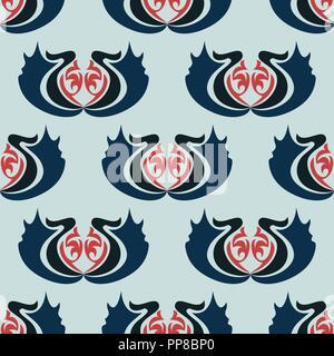 Vector Abbildung: nahtlose Textur mit dekorativen Ornamenten. - Stockfoto