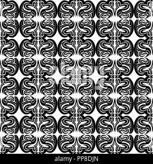 Abbildung: nahtlose Textur mit dekorativen Ornamenten. - Stockfoto