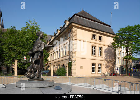 Großherzogin Charlotte Denkmal am Clairefontaine, Luxembourg City, Luxemburg, Europa ich Großherzogin Charlotte Denkmal bin Clairefontaine-Plat - Stockfoto