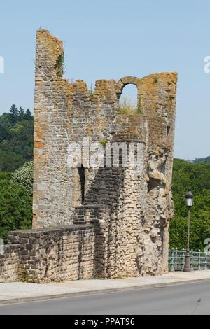 Dente Creuse - Hohler Zahn Teil der Festung auf Montée de Clausen, der Stadt Luxemburg, Luxemburg, Europa I Dente Creuse - hohler Zahn Teil der Fest - Stockfoto