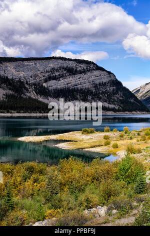 Spray Lakes Reservoir Kananaskis, Alberta, Kanada - Stockfoto