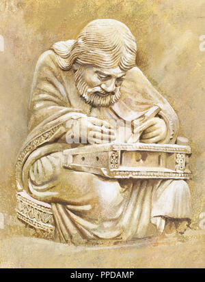 Pythagoras von Samos (C. 570-C. 495 b). Ionische griechischer Philosoph, Mathematiker, und Gründer der religiösen Bewegung namens Pythagoreanism. Porträt. - Stockfoto