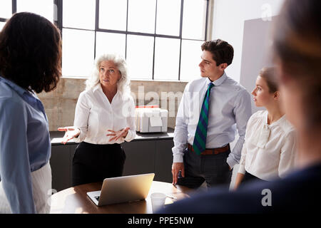 Senior Managerin Adressierung Team in business meeting - Stockfoto