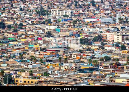 Luftaufnahme der Stadt Arica, Chile - Stockfoto