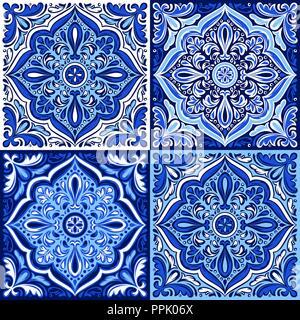 Italienische Keramik Muster. Ethnische folk Ornaments. - Stockfoto