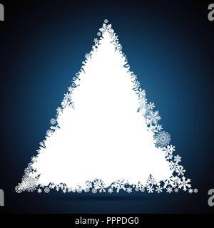 Weihnachtsbaum, Schneeflocke-Design-Hintergrund. - Stockfoto