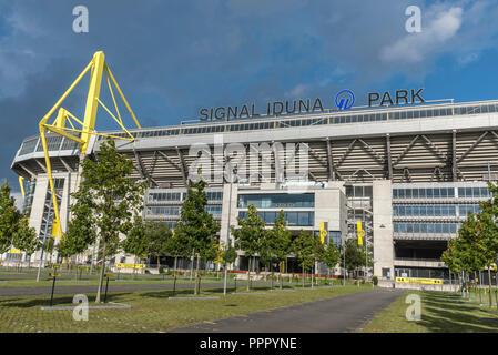 Signal Iduna Park, Fußball Stadion, BVB, Dortmund, Ruhrgebiet, Nordrhein-Westfalen, Deutschland - Stockfoto