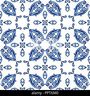 Italienischen Fliesen Muster. Ethnische folk Ornaments. - Stockfoto