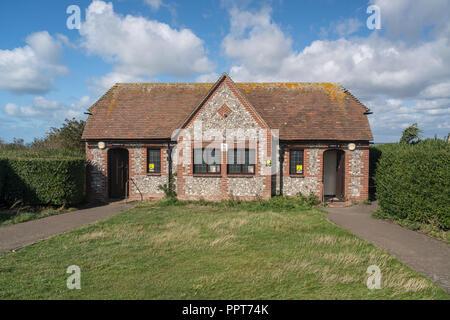 Öffentliche Toilette Block bei Beachy Head in der Nähe von Eastbourne Sussex - Stockfoto