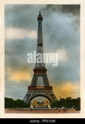 Eiffelturm in Paris, 1930 (ca.) - Stockfoto