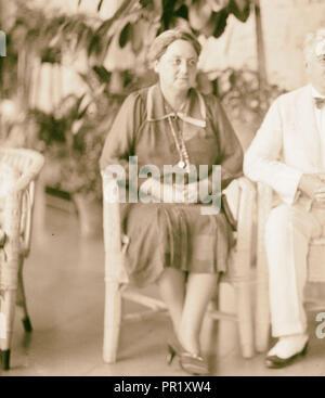 Der US-Senator & Frauen, 12.08.1936, Naher Osten, Israel und/oder Palästina - Stockfoto