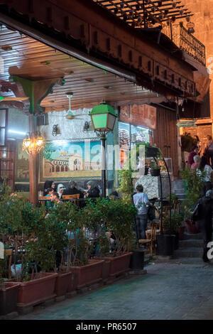 syrien damaskus old town souk basar person markt gasse stra e laden gesch ft. Black Bedroom Furniture Sets. Home Design Ideas