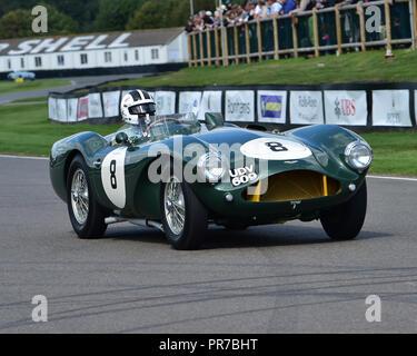 Peter Bradfield, Aston Martin DB 3 S, Freddie März Memorial Trophy, Sportwagen, 1952 bis 1955, Goodwood Revival 2018, September 2018, Automobile, Autos - Stockfoto