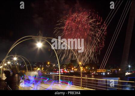 Southport, Merseyside, UK. 29. September 2018. Britische musikalisches Feuerwerk Meisterschaft 2018 im Victoria Park. Kredit MediaWorldImages/AlamyLiveNews. - Stockfoto