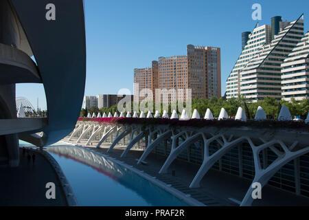 Valencia, Spanien. Architektur außerhalb der Stadt der Künste und Wissenschaften - Stockfoto