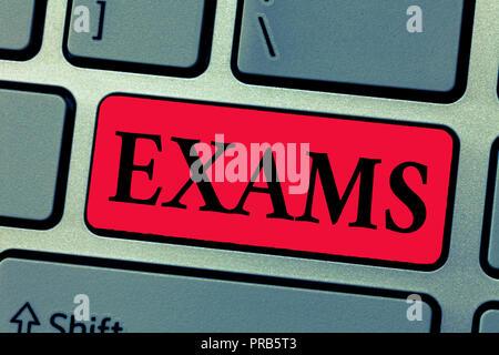 Schreiben Hinweis zeigen Untersuchungen. Business foto Präsentation Test einer bestimmten Art ihre Stärke und Schwäche zu beweisen. - Stockfoto