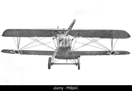 Arten von deutschen Flugzeugen. Albatros Scout. Ansicht von vorn - Stockfoto