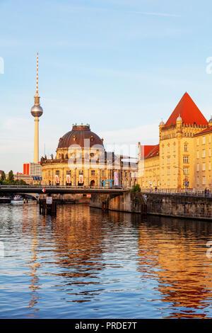 Europa, Deutschland, Brandenburg, Berlin, Museumsinsel, SPree, barocken Stil Bode Museum 1904 von Ernst von Ihne - Stockfoto