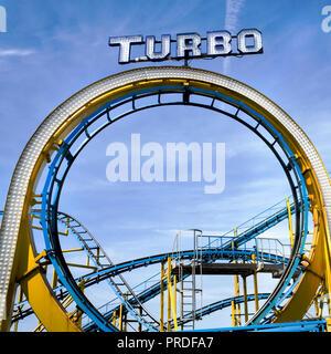 Brighton Pier Turbo Coaster - Stockfoto