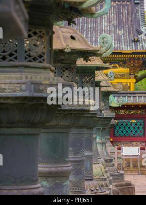 Tokio, Japan. September 10, 2018. Ueno Toshogu Schrein in 1616 gebaut, einer der Toshogu Schreine über dem Land, die Engagierten zu Tokugawa Ieyasu, die - Stockfoto