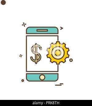 Mobile Gang dollar Symbol vektor design - Stockfoto