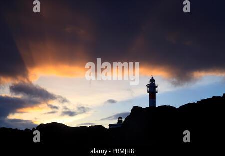 Leuchtturm Faro de Teno, Teneriffa - Stockfoto