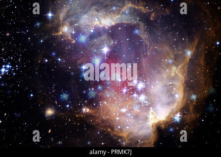 Bunte Galaxy im Weltraum. Elemente dieses Bild von der NASA eingerichtet. - Stockfoto