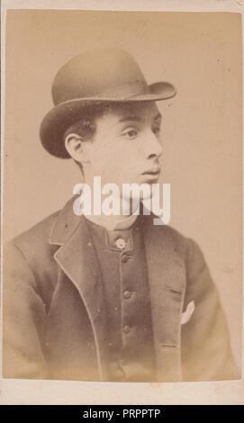 Birmingham CDV Carte De Visite Eines Jungen Viktorianischer Mann In Anzug Und Melone