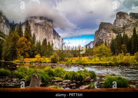 Mirror Lake im Yosemite National Park, Kalifornien - Stockfoto