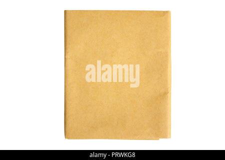 Pergamentpapier ist isoliert - Stockfoto