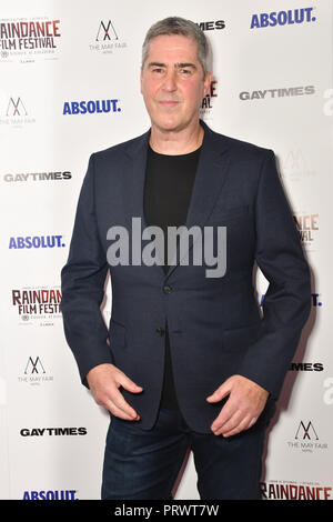 London, Großbritannien. 4. Oktober 2018. David Austin besucht Raindance Film Festival Gay Times Galavorstellung - George Michael: Freiheit (Director's Cut) London, UK. 4. Oktober 2018. Bild Capital/Alamy leben Nachrichten - Stockfoto
