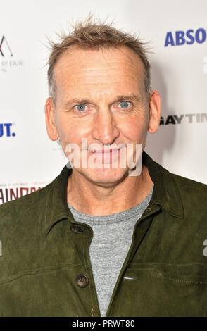 London, Großbritannien. 4. Oktober 2018. Christopher Eccleston besucht Raindance Film Festival Gay Times Galavorstellung - George Michael: Freiheit (Director's Cut) London, UK. 4. Oktober 2018. Bild Capital/Alamy leben Nachrichten - Stockfoto