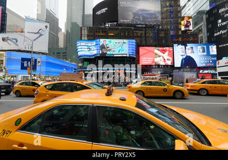 New York, USA: 18. Mai 2018: Voll, Times Square, New York, USA. - Stockfoto