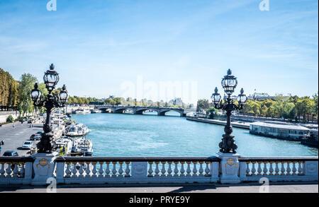 Brücke in Paris, Frankreich - Stockfoto