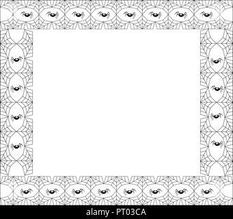 halloween mit rechteckigem rahmen f r text mit spinnennetz bat schloss vorlage f r die. Black Bedroom Furniture Sets. Home Design Ideas
