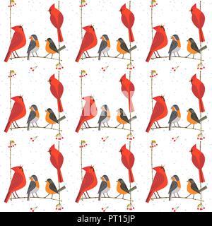 Rockiger Vögel Muster - Stockfoto