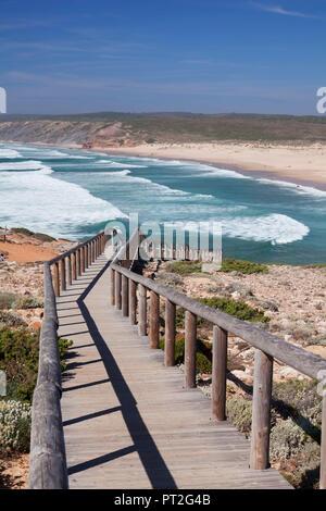 Praia da Borderia Strand, Carrapateira, Costa Vicentina, Westküste, Algarve, Portugal - Stockfoto