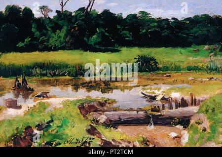 Jose Ferraz de Almeida Junior, Fluvial Landschaft, 1899 Öl auf Leinwand, Pinacoteca do Estado de Sao Paulo, Sao Paulo, Brasilien. - Stockfoto