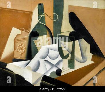 Juan Gris, die Weiße Tischdecke 1912-1916 Öl auf, das Museum der feinen künste, Houston, TX, USA. - Stockfoto
