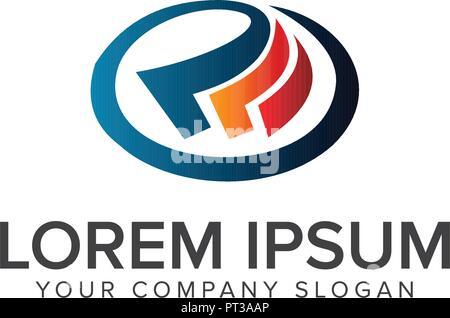 Business Logo Design Konzept Vorlage - Stockfoto